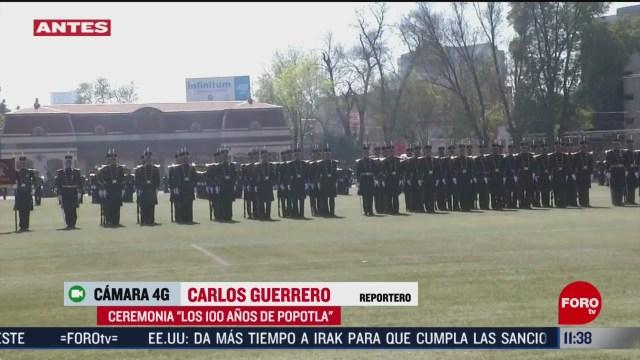 realizan ceremonia los 100 anos de popotla en el colegio militar