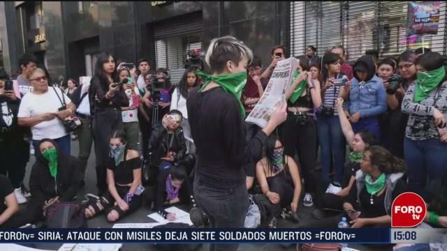 FOTO: realizan protesta contra la violencia de genero en hemiciclo a juarez