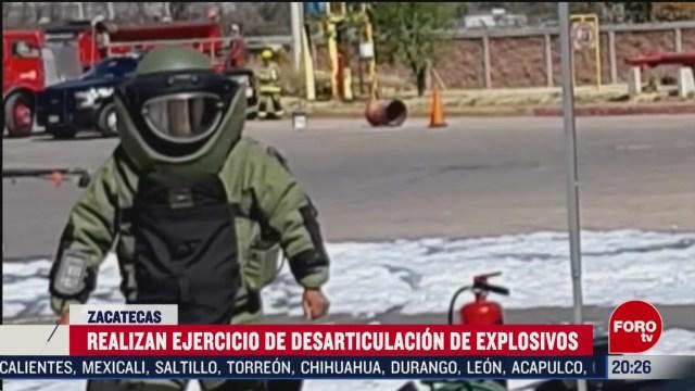 Foto: Simulacro Desarticulación Explosivos Zacatecas 20 Febrero 2020