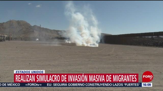 FOTO: 1 Febrero 2020, realizan simulacros en ee uu ante posible llegada de migrantes