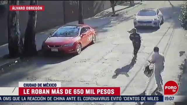 Foto: Robo 650 Mil Pesos Hombre Álvaro Obregón CDMX 24 Febrero 2020
