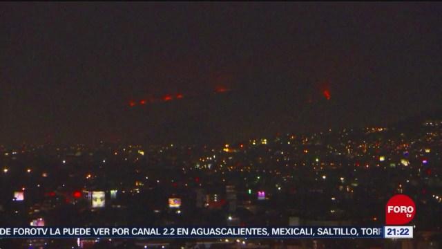 Foto: Se Registra Incendio Chalco Cerro Hoy 8 Febrero 2020