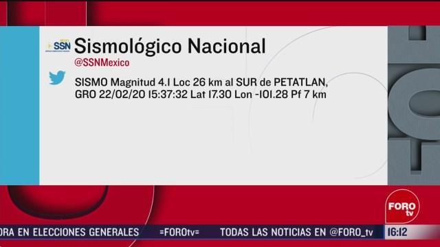 FOTO: 22 Febrero 2020, se registra sismo magnitud 4 1 en petatlan