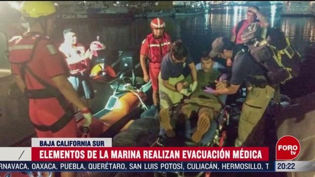 FOTO: 22 Febrero 2020, secretaria de marina evacua con exito a tripulante de buque canadiense