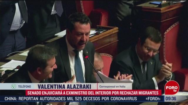 FOTO: 15 Febrero 2020, senado de italia retira inmunidad al exministro del interior matteo salvini