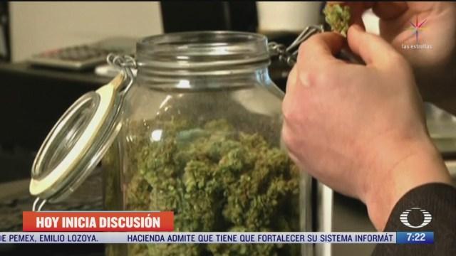senado inicia discusion del dictamen para regular la marihuana