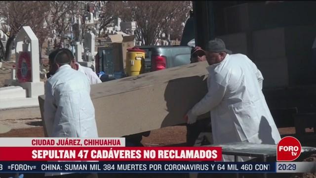 Foto: Sepultan Cadáveres No Reclamados Fosa Común Chihuahua 14 Febrero 2020