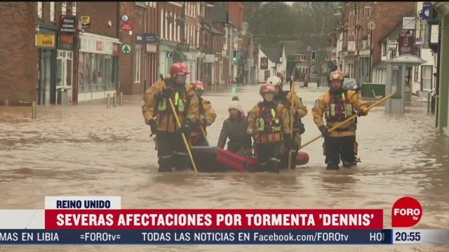 Foto: Tormenta Dennis Reino Unido Severas afectaciones 17 Febrero 2020