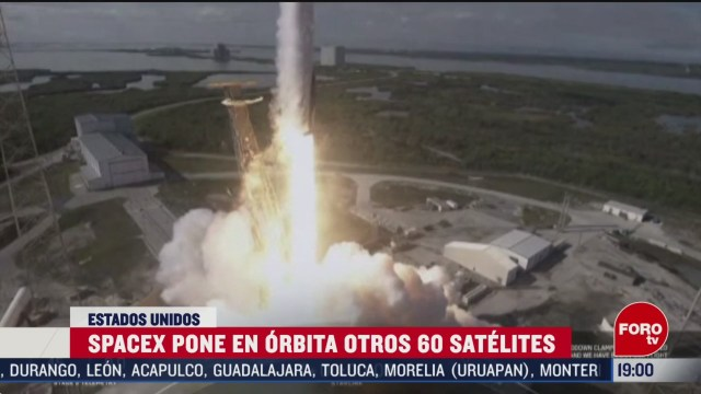 FOTO: space x pone en orbita 60 satelites