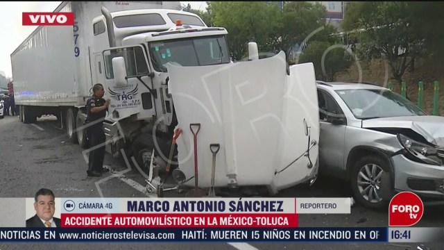 FOTO: trailer se queda sin frenos en la mexico toluca 14 de febrero