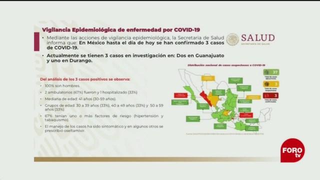 Foto: Tres Casos Confirmados Coronavirus México 28 Febrero 2020