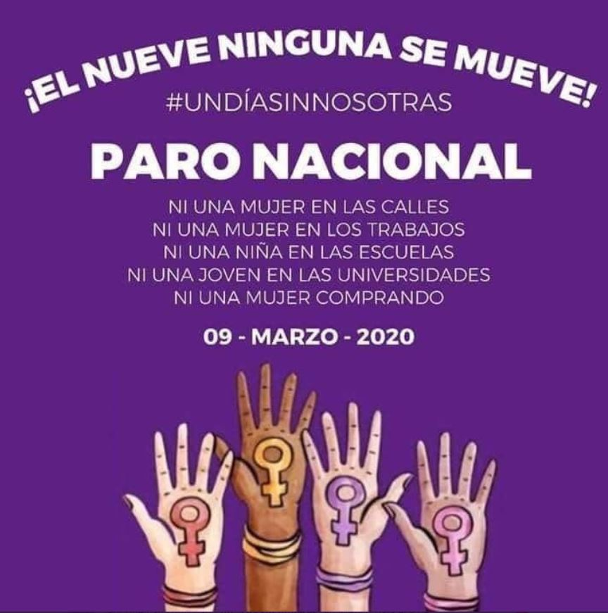 Foto: Organizaciones feministas convocan un paro nacional de mujeres en México, 19 febrero 2020