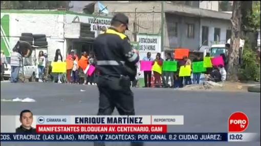 FOTO: 22 Febrero 2020, vecinos bloquean avenida centenario en gustavo a madero