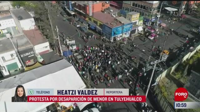 vecinos protestan por la desaparicion de la menor fatima en tulyehualco