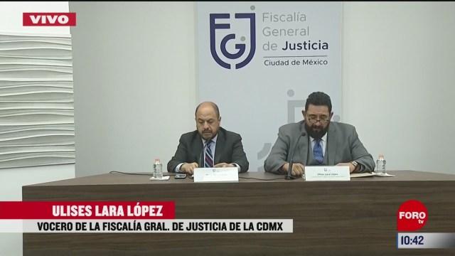 vocero de la fiscalia general de justicia de cdmx habla sobre el caso de fatima