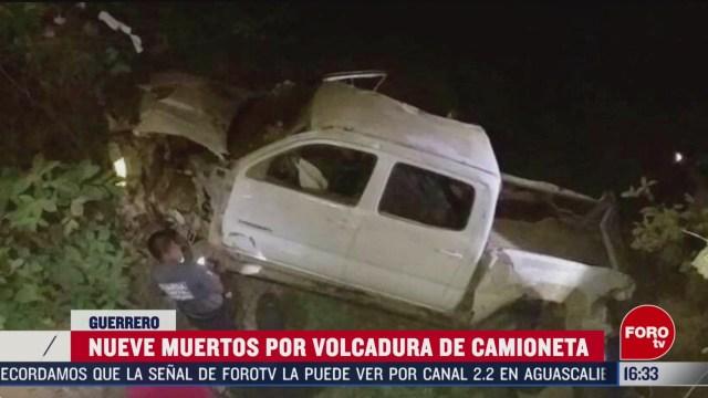 FOTO: 15 marzo 2020, accidente en guerrero deja 9 muertos y 5 lesionados