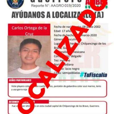 Localizan a hijo del vocero de padres de normalistas de Ayotzinapa