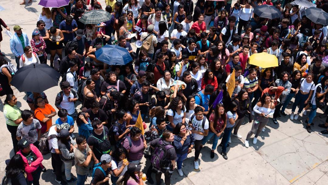 Foto: Estudiantes del Colegio de Ciencias y Humanidades (CCH) en una asamblea, 4 marzo 2020