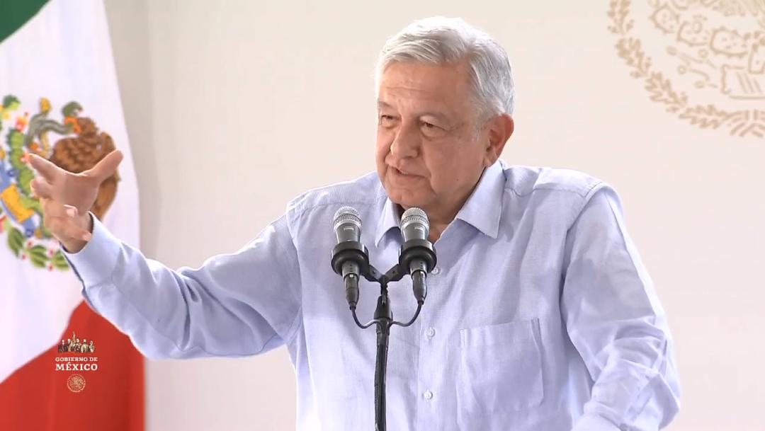 Foto: El presidente Andrés Manuel López Obrador desde Calvillo, Aguascalientes.