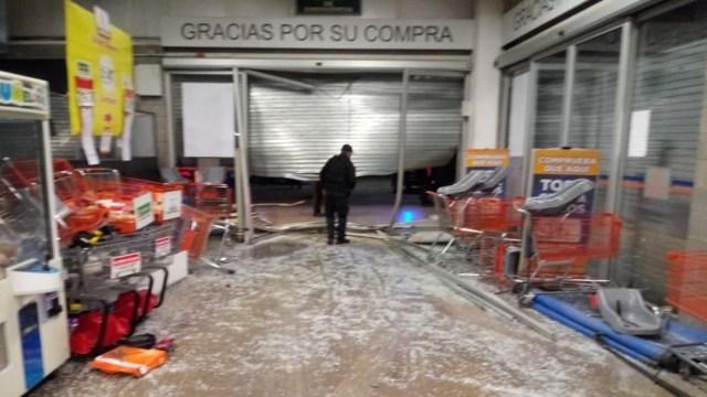 Foto: Asalto a una tienda Chedraui en Tecámac, Estado de México, 21 marzo 2020