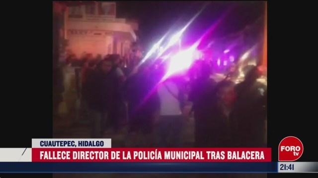FOTO: 15 marzo 2020, asesinan a director de la policia de cuautepec hidalgo