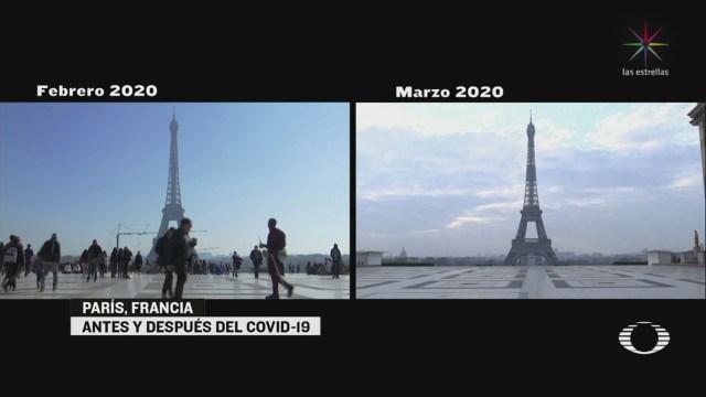 Foto: Calles París Francia Tras Medidas Coronavirus 18 Marzo 2020