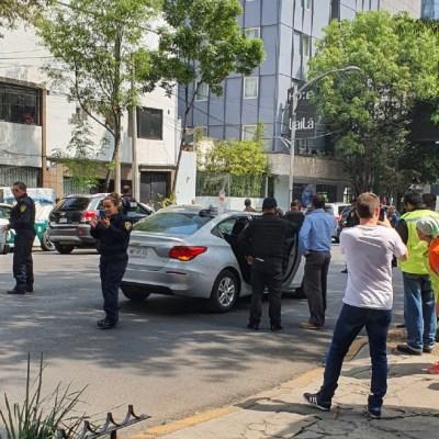 Intento de asalto desata balacera en inmediaciones de Torre Diana en Reforma