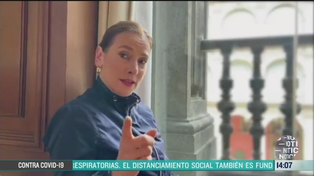 FOTO: 22 marzo 2020, beatriz gutierrez muller destaca que el gobierno de mexico deja en manos de los cientificos la pandemia