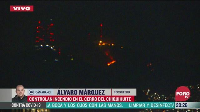 Foto: Bomberos Cdmx Combaten Incendio Cerro Chiquihuite 27 Marzo 2020