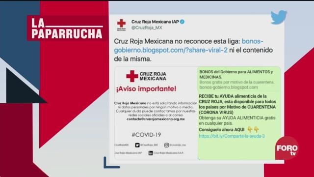 Foto: Coronavirus Bonos Oms Comida Medicinas Noticias Falsas 30 Marzo 2020