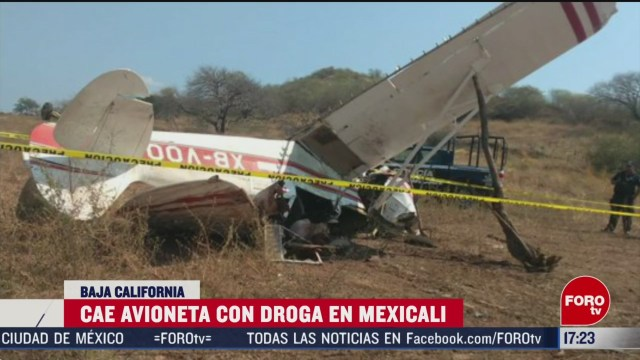 FOTO: cae avioneta con droga en mexicali