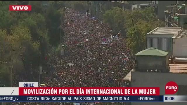 FOTO: 8 marzo 2020, chile conmemorara el dia internacional de la mujer