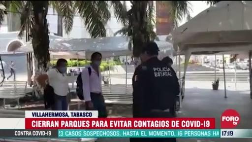 FOTO: 28 marzo 2020, cierran parques publicos de villahermosa tabasco para evitar la propagacion del coronavirus