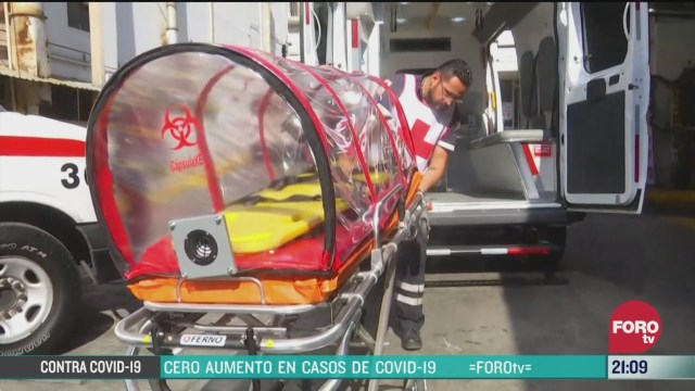 Foto: Coronavirus Ambulancia Cápsula Cruz Roja Pacientes COVID-19 30 Marzo 2020