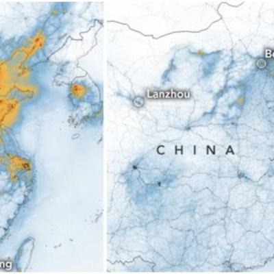 NASA capta impresionante disminución de contaminación en China a raíz de coronavirus
