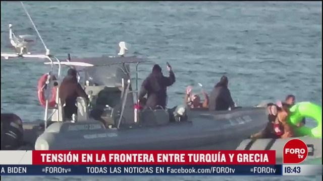 FOTO: continua la tension en la frontera entre turquia y grecia