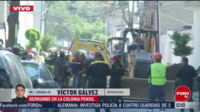 continuan trabajos de rescate tras derrumbe en pensil norte