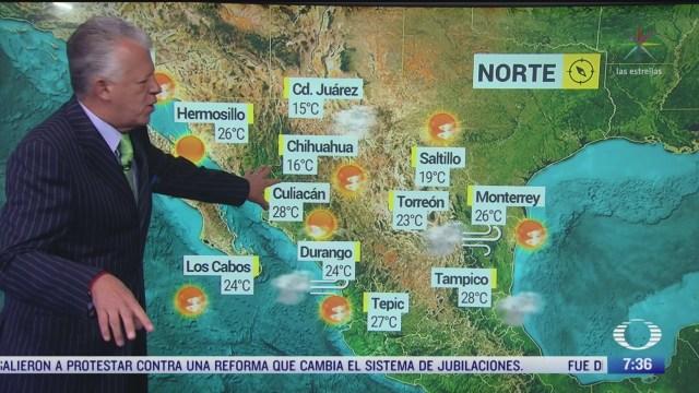 despierta con tiempo preven lluvias frio y nevadas en norte de mexico