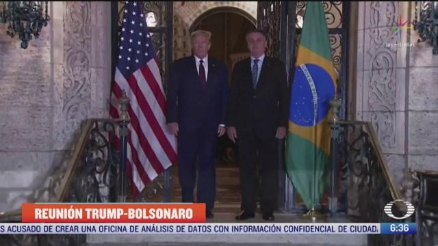 donald trump y jair bolsonaro reiteran su apoyo a juan guaido en venezuela