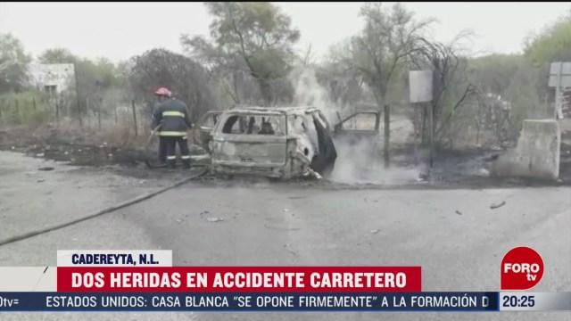 Foto: Choque Carretero Cadereyta Nuevo León Muertos 9 Marzo 2020