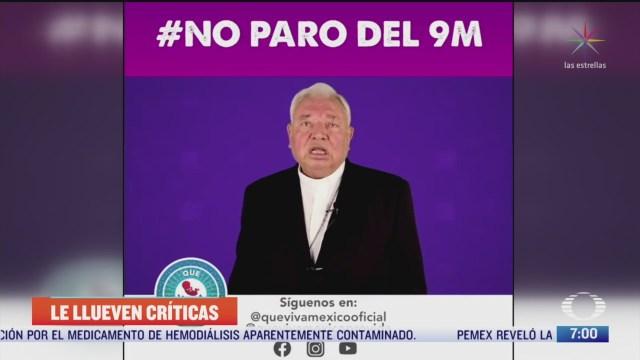 el cardenal juan sandoval iniguez pide a mujeres no participar en paro