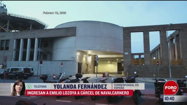 emilio lozoya llega a madrid