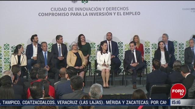 FOTO: empresarios anuncian compromisos de inversion en cdmx