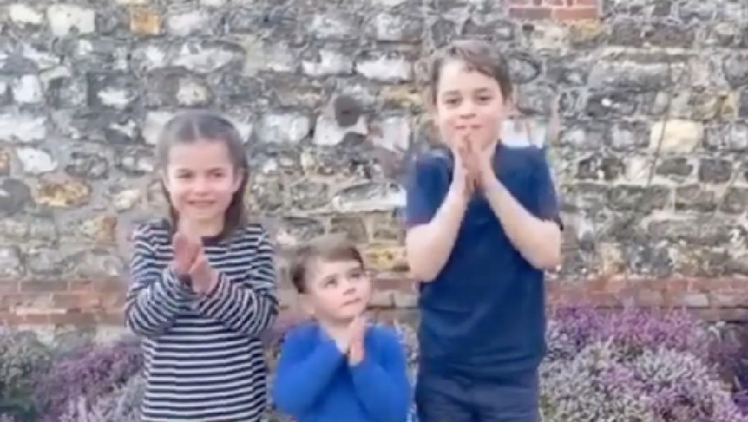 Coronavirus: Familia real británica aplaude a los sanitarios