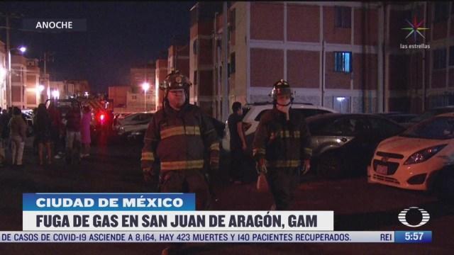 familias se resguardan tras fuga de gas en la gam