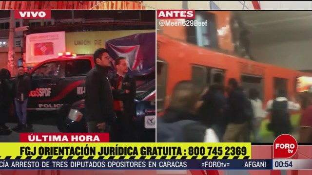 Foto: Choque Metro Tacubaya Fiscalía Inicia Carpeta Investigación 10 Marzo 2020
