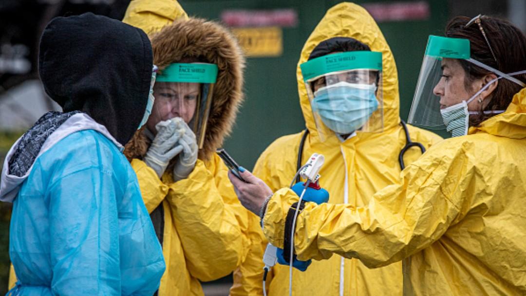 Foto: Personal sanitario en Nueva York, EEUU. Getty Images