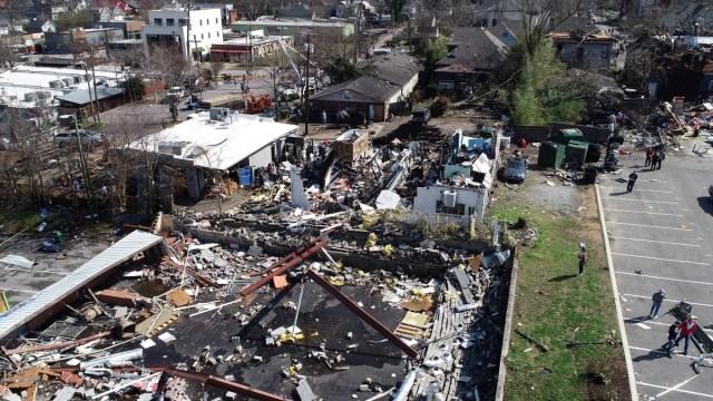 Foto: Daños por tornados en Nashville, Tennessee. Reuters