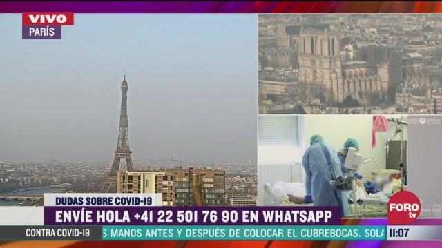 FOTO: 28 marzo 2020, francia quinto lugar en casos con coronavirus