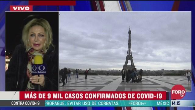 FOTO: francia suma mas de 9 mil casos de coronavirus confirmados